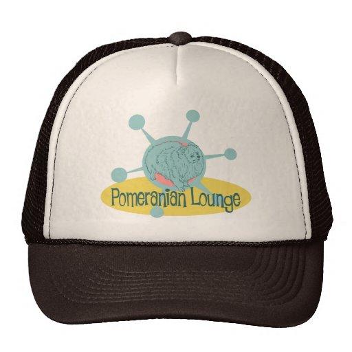Retro Pomeranian Lounge Hats