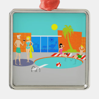 Retro Pool Party Christmas Ornament