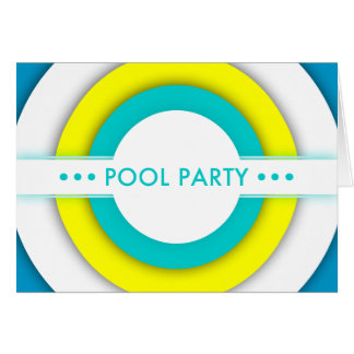 retro pool party invitation greeting card