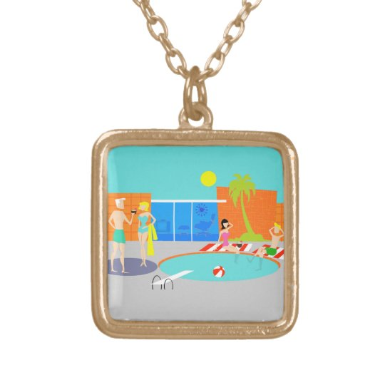 Retro Pool Party Necklace