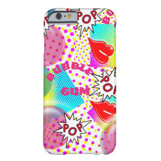 Retro Pop Art Bubblegum Red Lips Halftone Graphic Barely There iPhone 6 Case