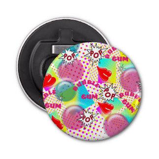 Retro Pop Art Bubblegum Red Lips Halftone Graphic Bottle Opener