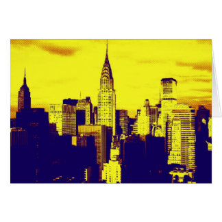 Retro Pop Art Comic New York City Card