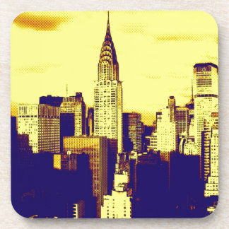 Retro Pop Art Comic New York City Coaster