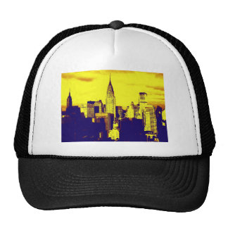 Retro Pop Art Comic New York City Trucker Hats