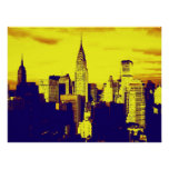 Retro Pop Art New York City Poster