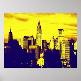 Retro Pop Art New York City Poster