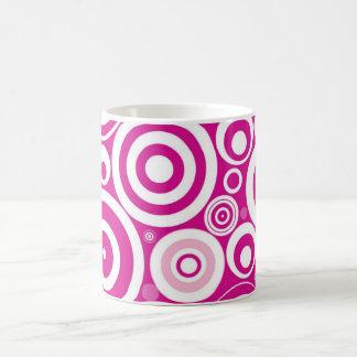RETRO POP ART PINK SWIRL CIRCLES MUG