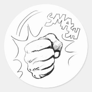 Retro Pop Art Smash Sketch Sticker