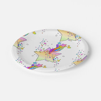 RETRO POP ART STAR PAPER PLATE