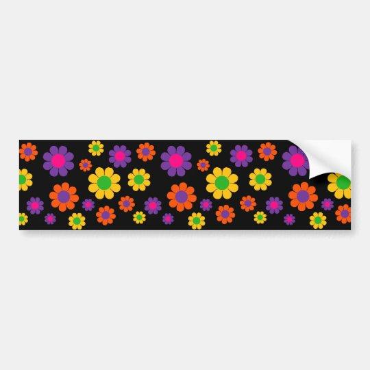 Retro Pop Flower Power Bumper Sticker