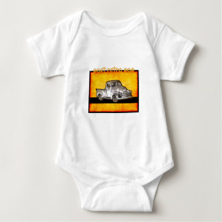 retro pop  truck baby bodysuit