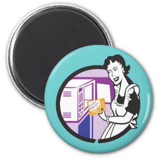 Retro Popcorn Art Tees Gifts Magnet