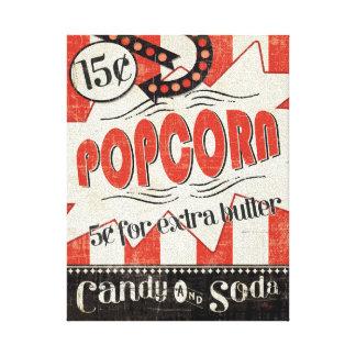 Retro Popcorn Canvas Print