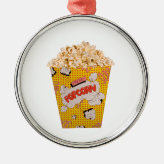 Retro Popcorn - Color Christmas Ornament
