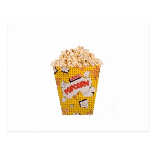 Retro Popcorn - Color Postcard
