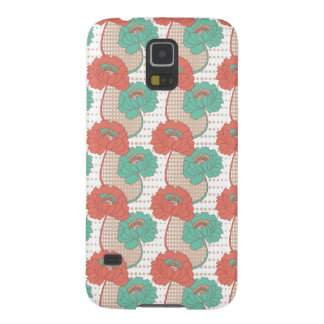Retro Poppy Pattern Cases For Galaxy S5