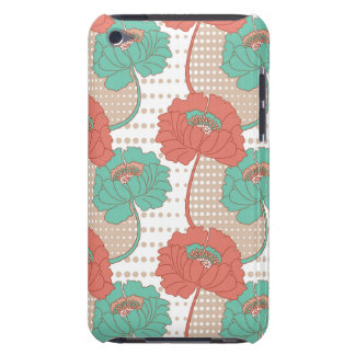 Retro Poppy Pattern iPod Touch Covers