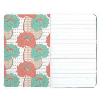 Retro Poppy Pattern Journal