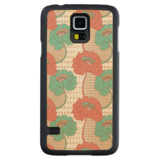 Retro Poppy Pattern Maple Galaxy S5 Case
