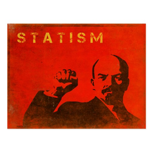 Retro Postcard with Outcome of Statism Print