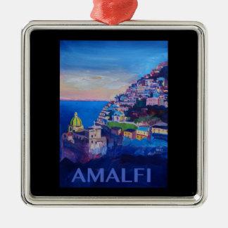 Retro Poster Amalfi Coast italy Christmas Ornament
