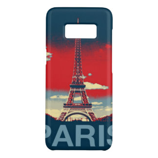retro poster Vintage France Paris Effiel Tower Case-Mate Samsung Galaxy S8 Case
