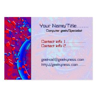 Retro Psycehdelic Crazyness Tech Geek Computer Business Cards