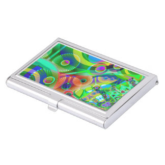 Retro Psychedelic Abstract Business Card Holder
