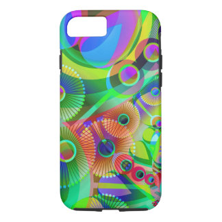 Retro Psychedelic Abstract iPhone 7 Case