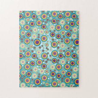 Retro Psychedelic Circles Jigsaw Puzzle