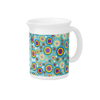 Retro Psychedelic Circles Pitcher