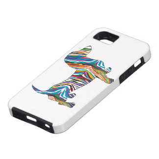 Retro Psychedelic Dachshund iPhone 5 Cover