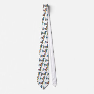 Retro Psychedelic Dachshund Tie