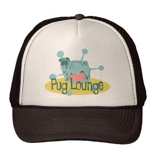 Retro Pug Lounge Hats