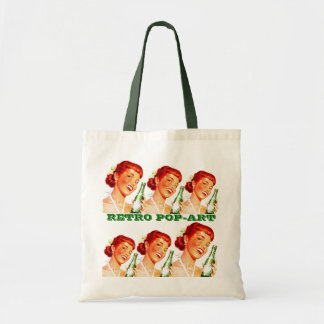 "RETRO PUN-FUN ""POP-ART"" GAL W/ CANADA DRY SODA POP TOTE BAG"