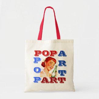 "RETRO PUN-FUN ""POP-ART"" GAL W/ CANADA DRY SODA POP BUDGET TOTE BAG"