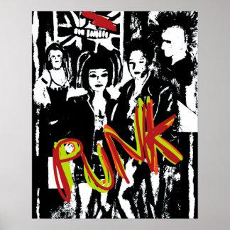 retro punk rock fashion music culture art poster
