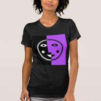 Retro Purple Abstract Sun Tshirts