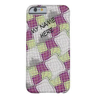 Retro Purple and Green Psychedelic Swirl Barely There iPhone 6 Case