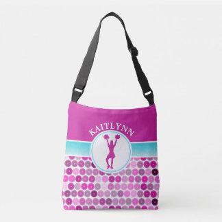 Retro Purple Circles Cheer / Pom by Golly Girls Tote Bag