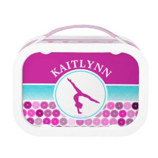 Retro Purple Circles Gymnastics by Golly Girls Lunch Box