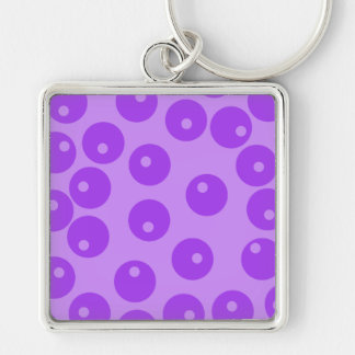 Retro Purple Circles Pattern. Key Chain