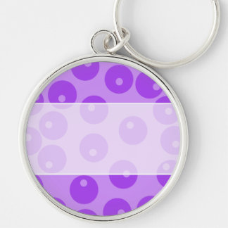 Retro Purple Circles Pattern. Keychains