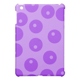 Retro Purple Circles Pern. iPad Mini Cover