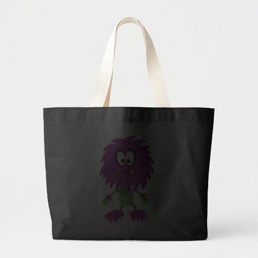 Retro Purple Cute Monster Bags