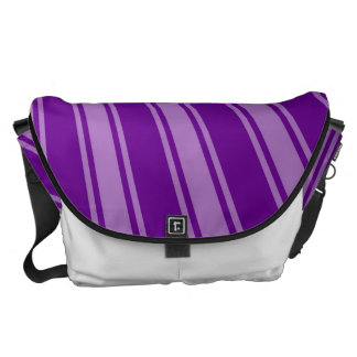 Retro Purple Funky Sun Rays Background Courier Bags