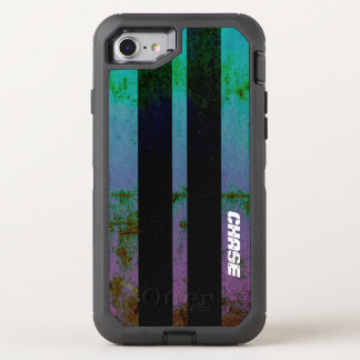 Retro Purple Green Muscle Car Stripes With Name OtterBox Defender iPhone 7 Case