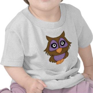 Retro Purple Owl Shirt