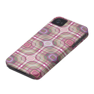 Retro Purple Plaid Check Pattern iPhone 4 CaseMate iPhone 4 Covers